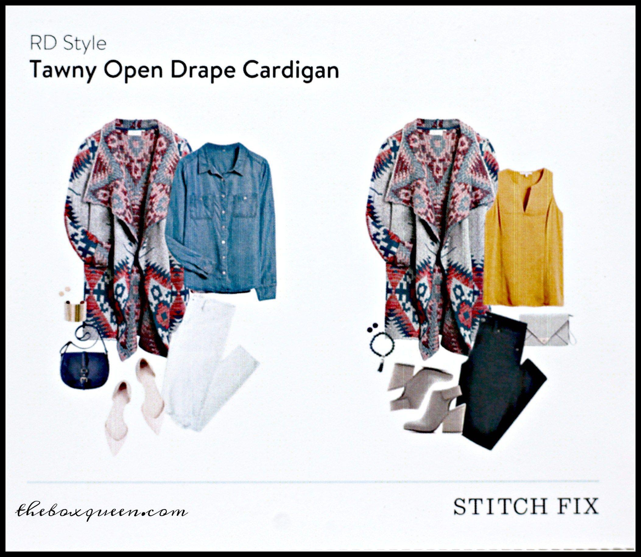 RD Style Tawny Open Drape Cardigan