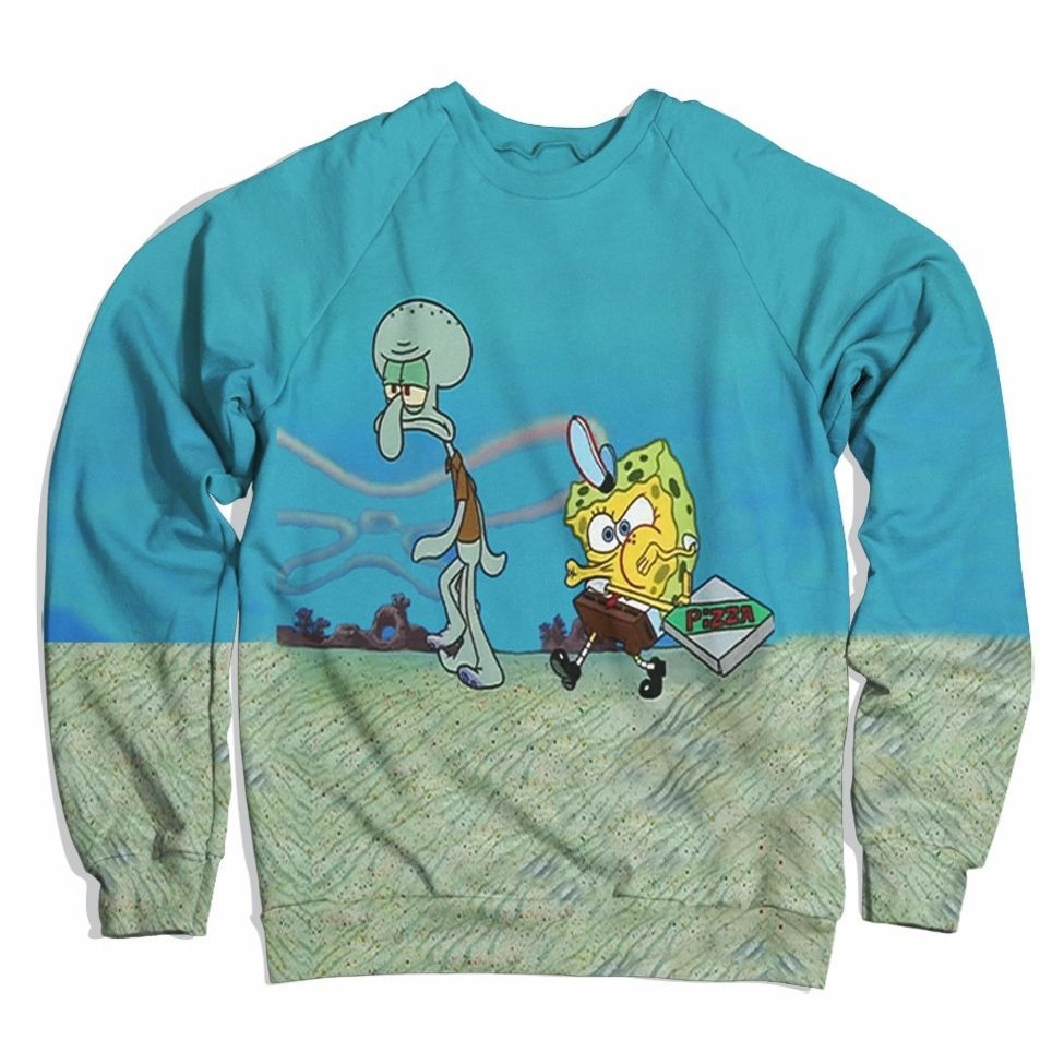 Krusty Krab Pizza Sweater Pizza Sweater Pullovers Outfit Sweaters