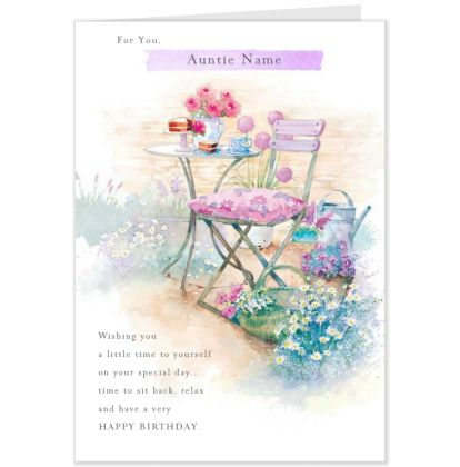 Lucy Cromwell Auntie Birthday Card Personalised Hallmark Uk Hallmark Cards Birthday Cards Personal Cards