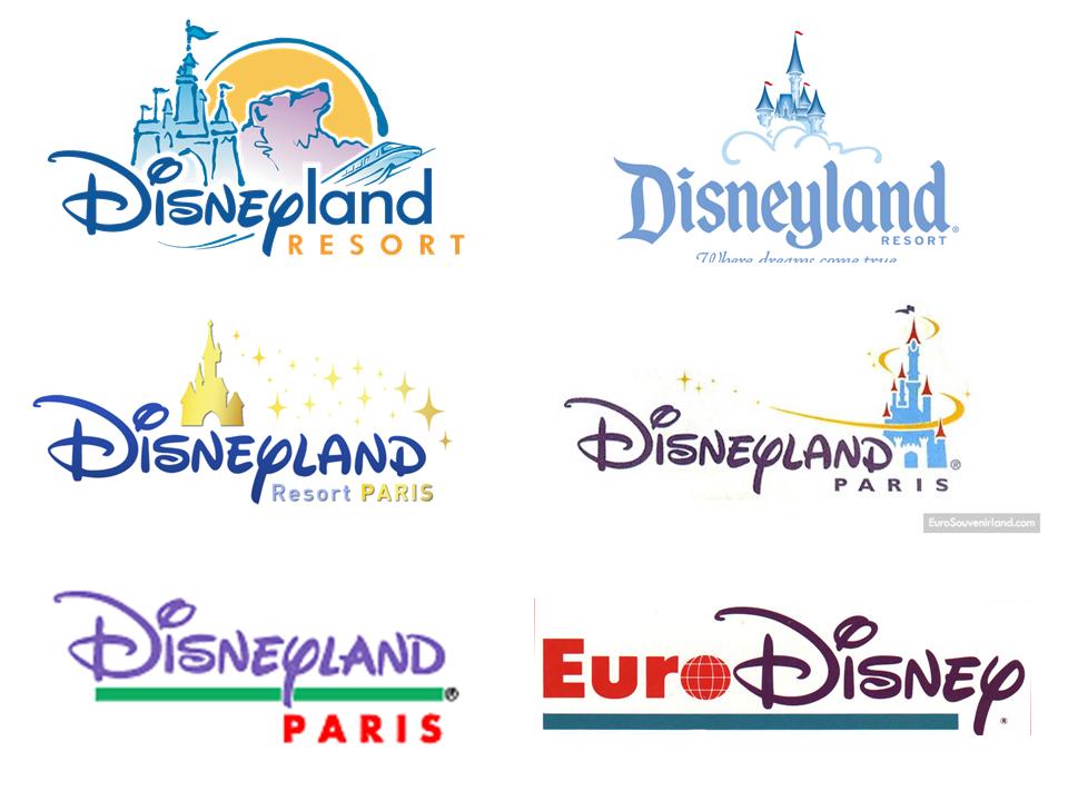 Retrospective De Differents Logo Du Parc De Disneyland Disney Retrospective Traduction Du 2eme Logo La Ou Disney Paris Paris Resorts Disneyland Resort