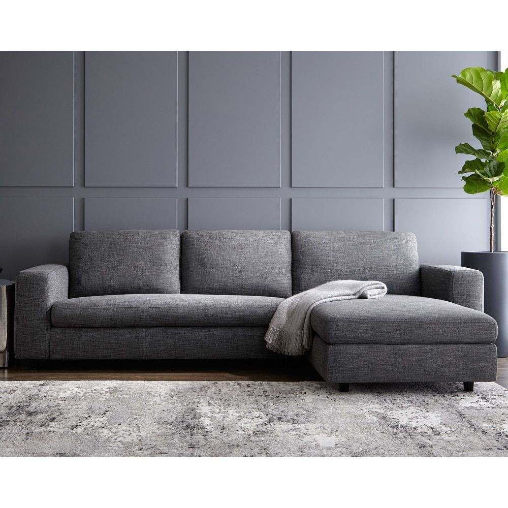 Sofa Pillows Ethan Sofa with Right Facing Chaise by Sunpan Furniture OutletOnline