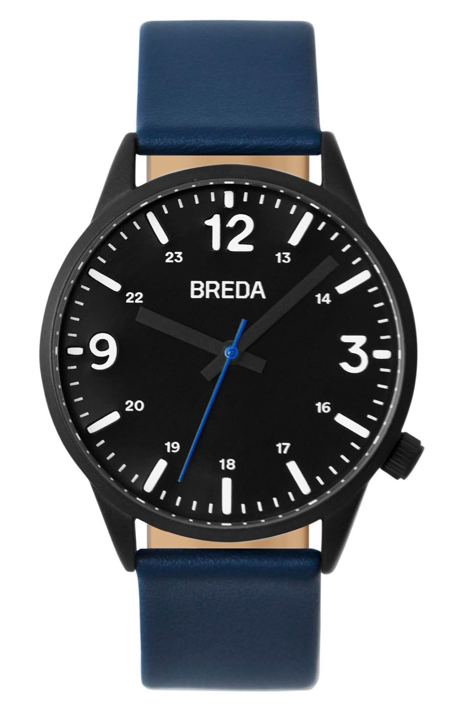 Main Image - BREDA Slate Leather Strap Watch, 41mm