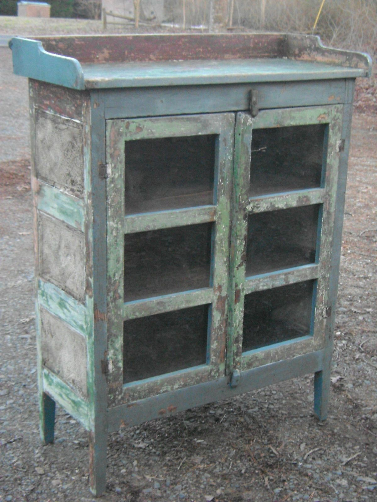 Primitive antique pie safe amazing painted finish