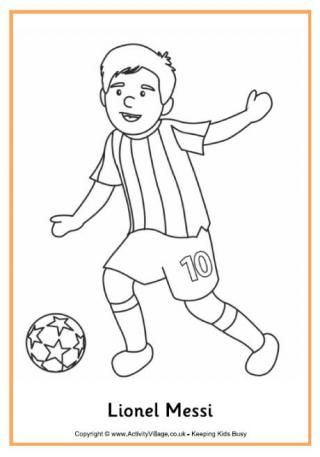 Lionel Messi Colouring Page Olímpiadas atividades Pinterest - new coloring pages ronaldo
