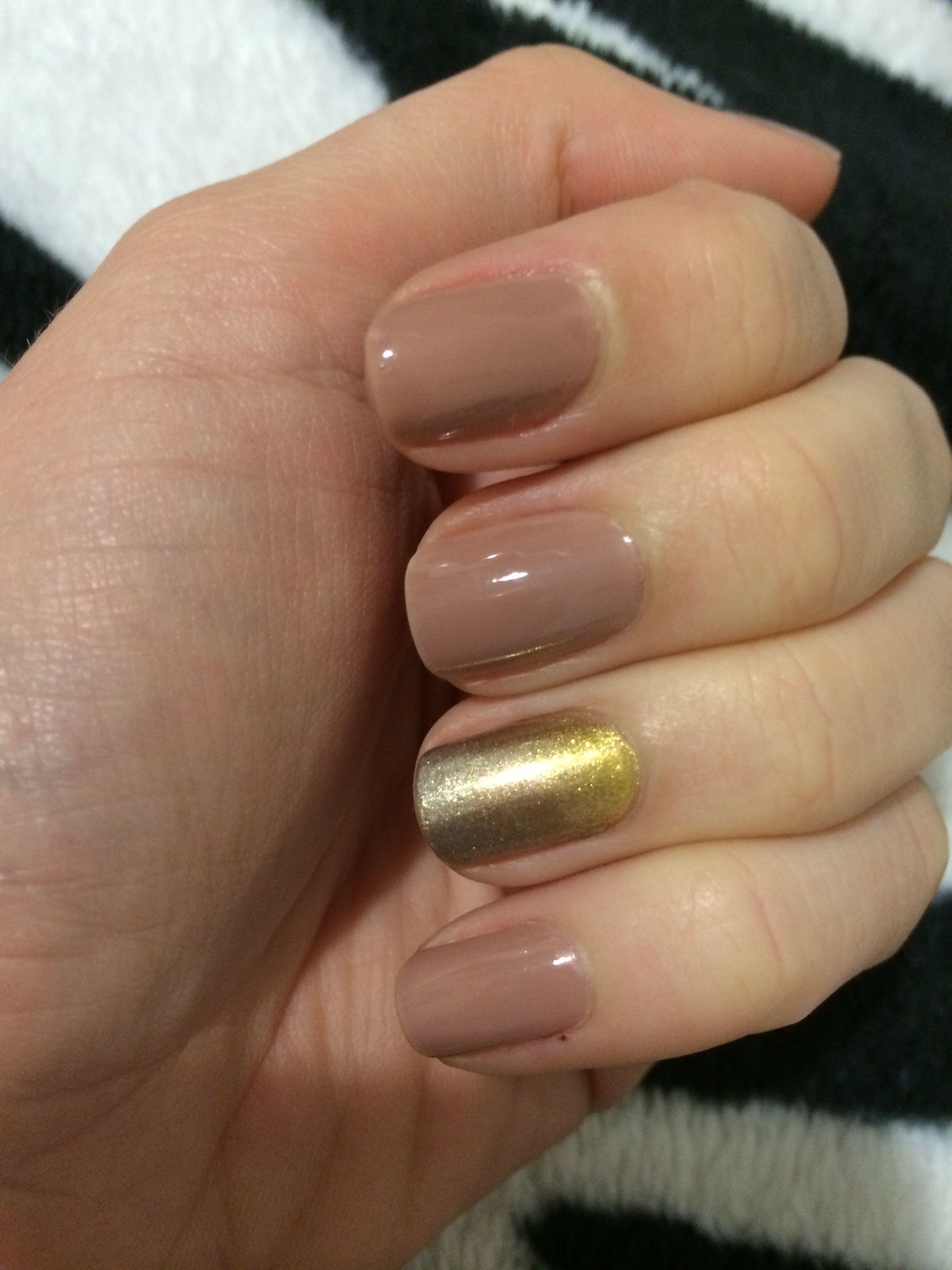 Golden ombré