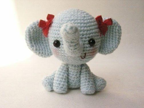 Adorable Crocheted Elephant Pattern.