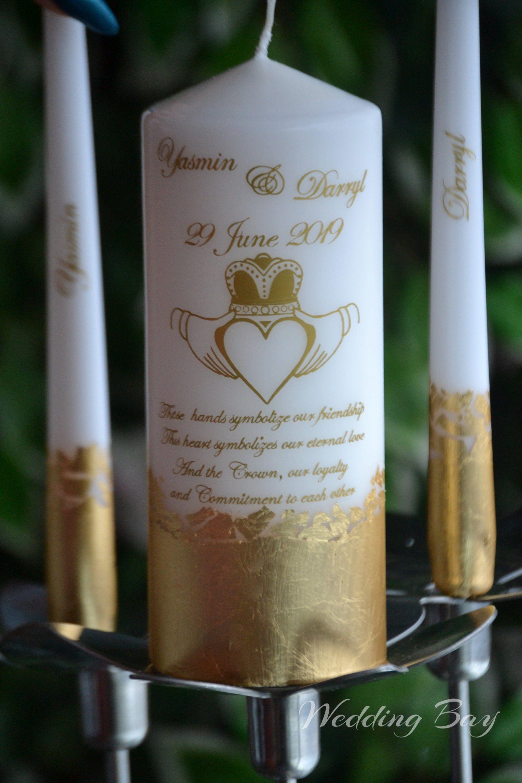 Celtic Wedding Candle Set Unity Candle Set With Celtic Etsy In 2020 Irish Wedding Personalised Wedding Candles Wedding Candle Set