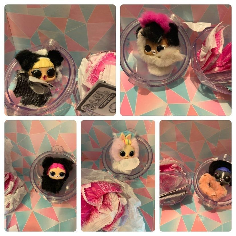 Lol Surprise Winter Disco Fluffy Pets Vampupper 80s Bunny Ra Ra Skunk Kitty 500 Bunny In The Woods Comes With All Accessori Fluffy Animals Kitty Playset