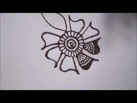 Mehndi Wolf Tattoo : How to learn arabic mehndi design first day class youtube