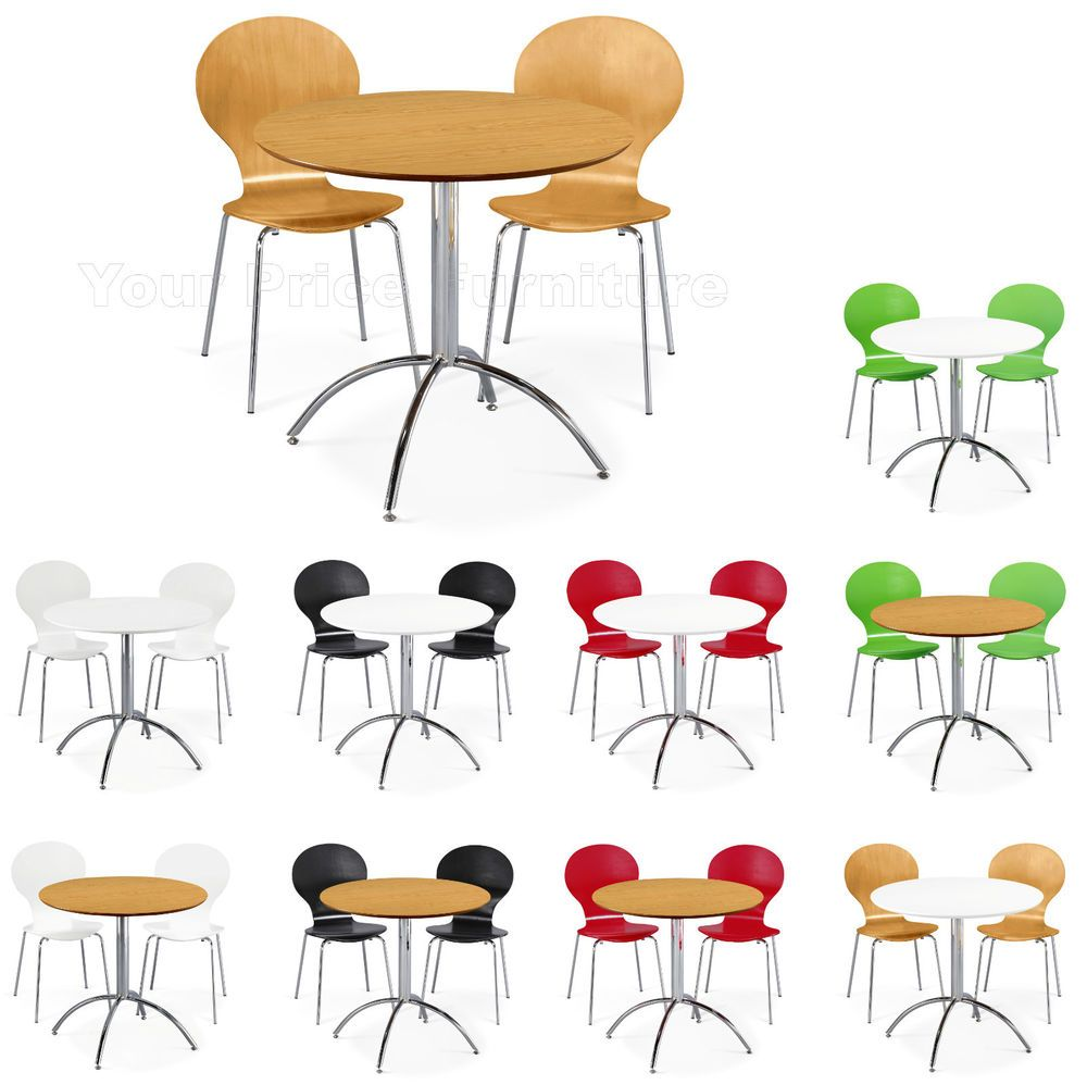 Modern Kitchen Dining Set Round Table and 2 Chairs Red White Green ...