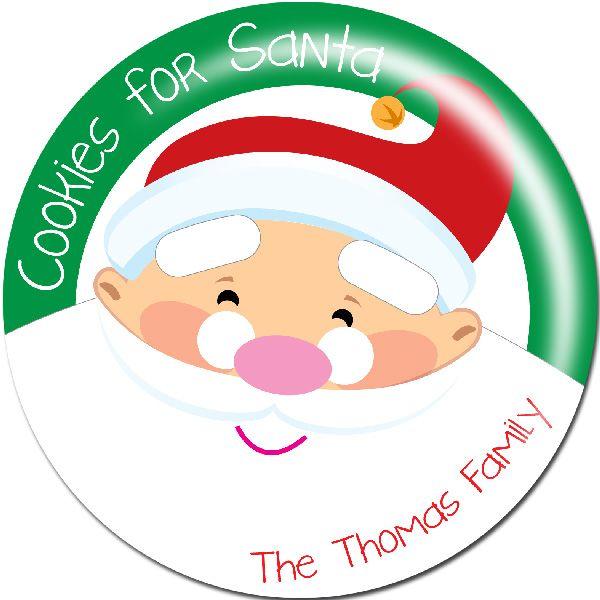 Big Santa Melamine Plate - Each Cookies for Santa plate comes with a FREE Letter to Santa kit.    MagnoliaCreativeCo.com