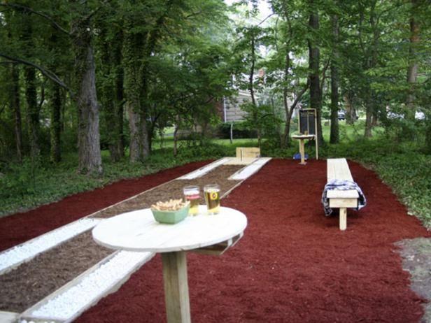Horseshoe Land | Backyard seating area, Backyard seating ...