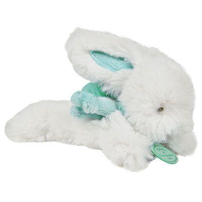 Doudou et compagnie Peluche bébé lapin pompon 14 cm amande