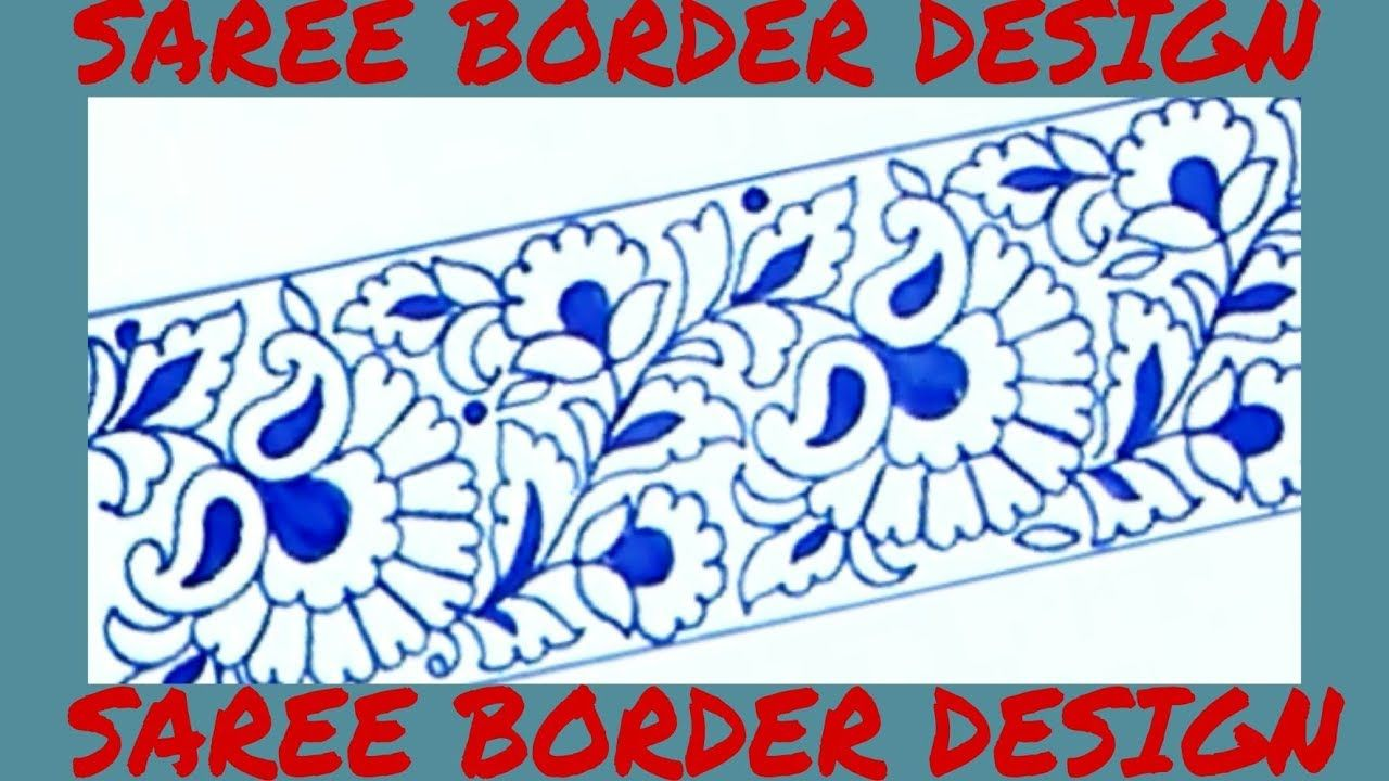 Draw saree border for embroidery designs pencil sketch designs for mach