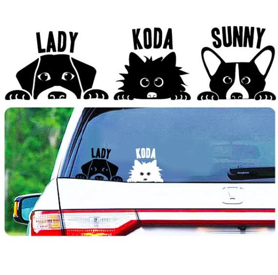 Your breed peek a boo custom dog decal by luckypups on etsy
