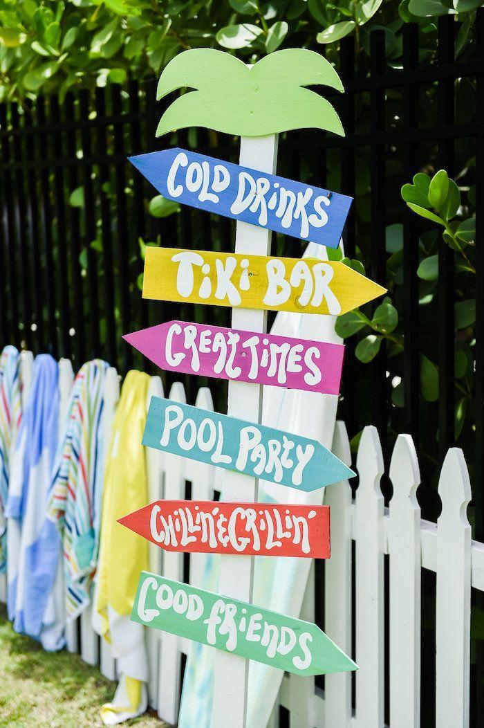Surf's Up Beach Birthday Party | Kara's Party Ideas