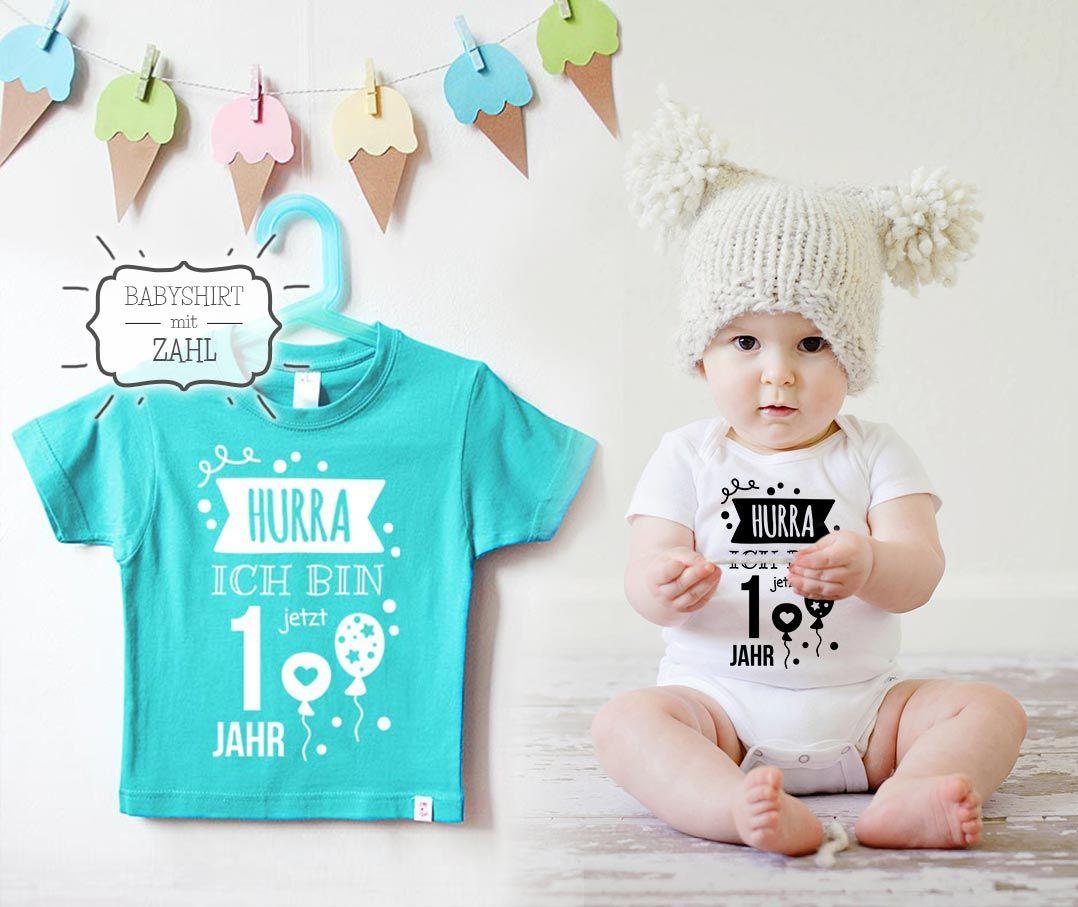 Bunte Babyshirts Mit Zahlen Zum 1 Geburtstag Naehfein