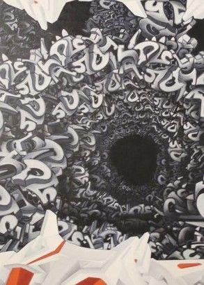 CEET / FOUAD - Dune, Mixed Media on canvas