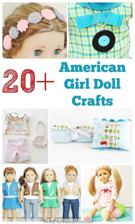 20+ American Girl Doll Crafts for your Dolls! #americangirldollcrafts