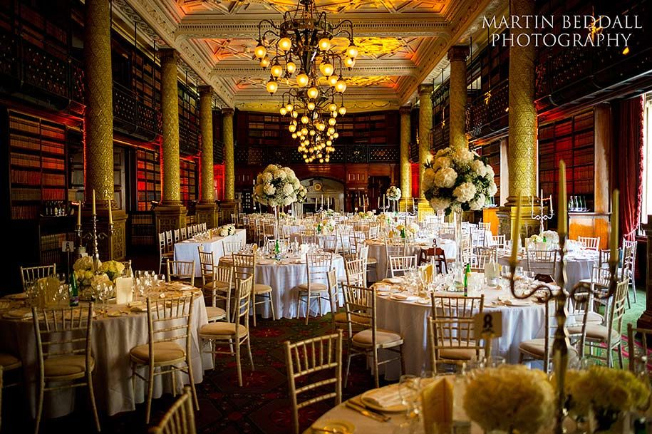 Gladstone Library At One Whitehall Place Set For A Wedding
