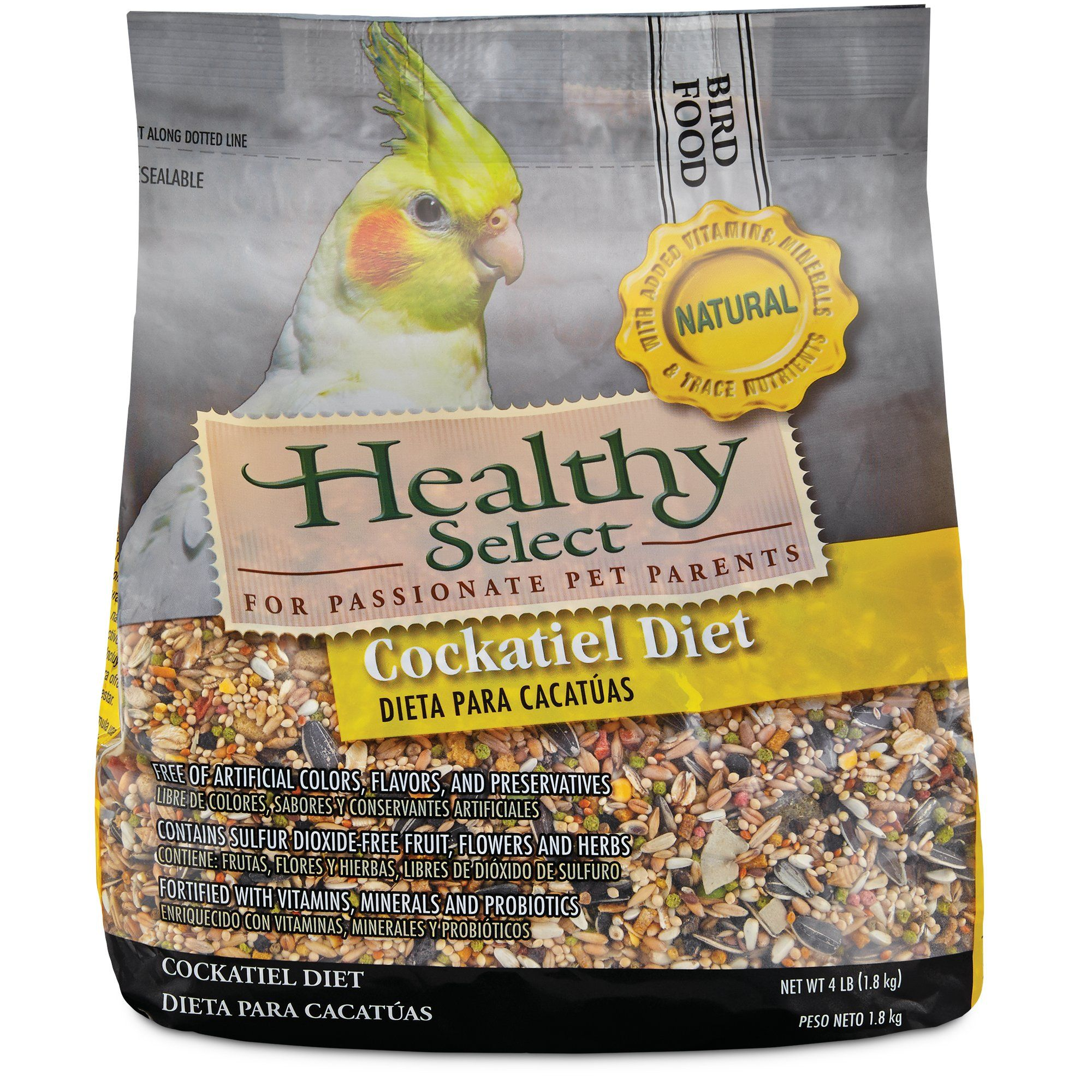 Healthy Select Natural Cockatiel Diet Petco Free Fruit Fermentation Products Diet