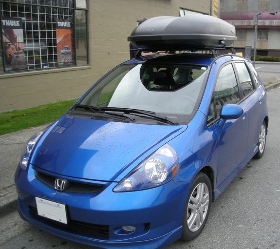 Honda Fit Roof Rack Hitch Bike Ski Snowboard Canoe Kayak Cargo Honda Fit Honda Fit Camping Honda