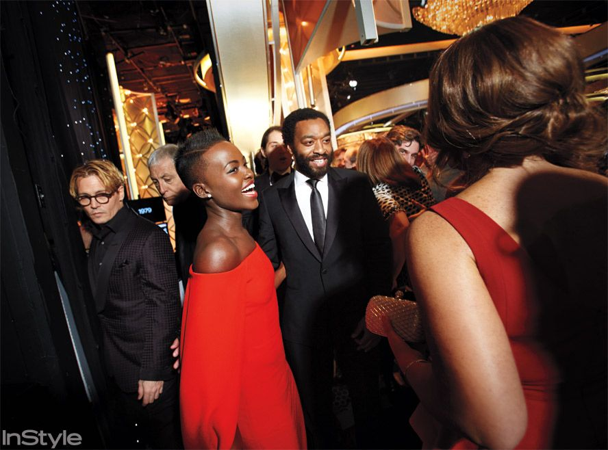 Exclusive Behind The Scenes Photos  At The 2014 Golden Globes - Lupita Nyong'o from #InStyle