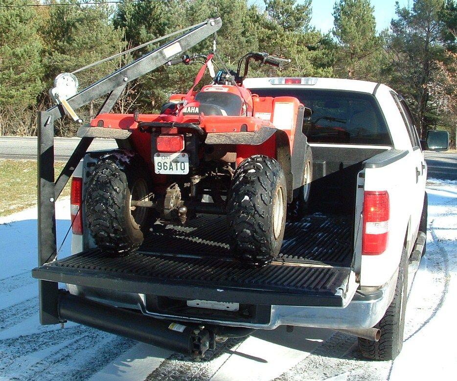 Truck Hitch Crane Truck hitch, Custom truck beds, Trucks