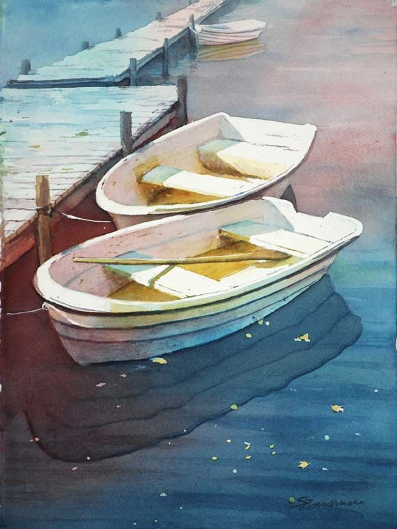 Original Watercolor Paintings By Artist Sue Zimmermann Barque