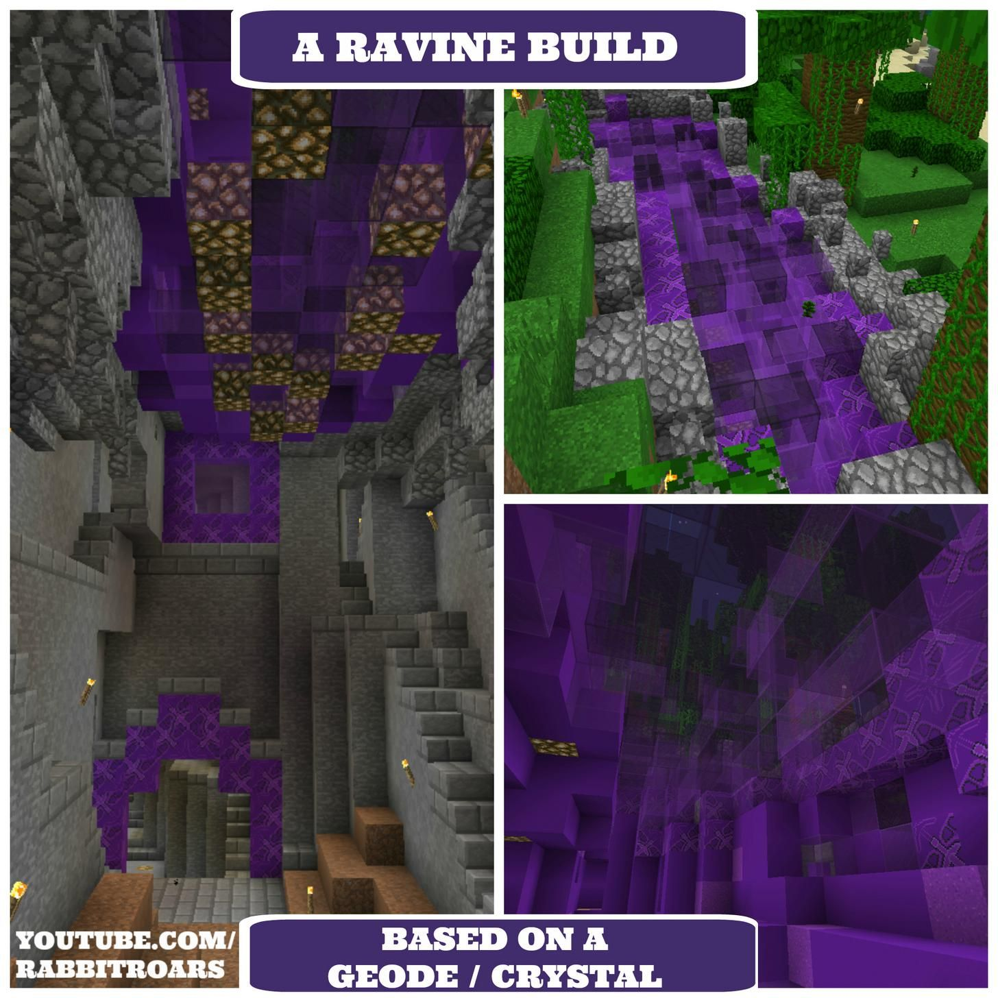 A Minecraft Ravine Build For A Base Or Home Inspired By A