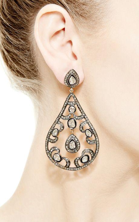 Diamond Chandelier Earrings by Kirat Young for Preorder on Moda Operandi
