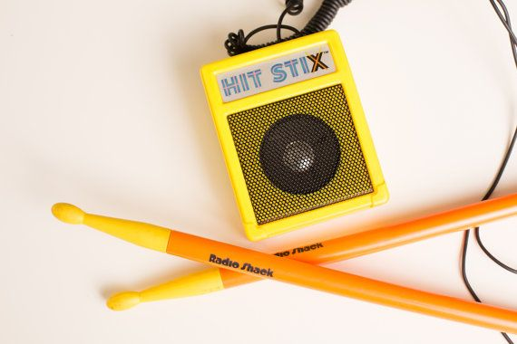 Radio Shack Toys For Boys : Vintage s hit stix electronic drum sticks toy radio