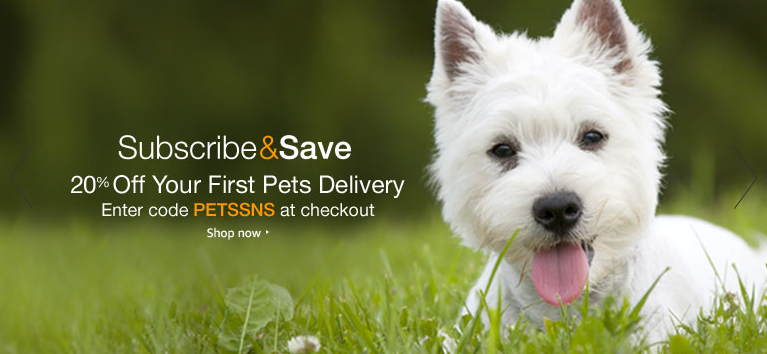 Amazon Prime Members Get 20 Off Your First Pet Supplies Subscribe Save Order Food Animals Pets Dog Food Online