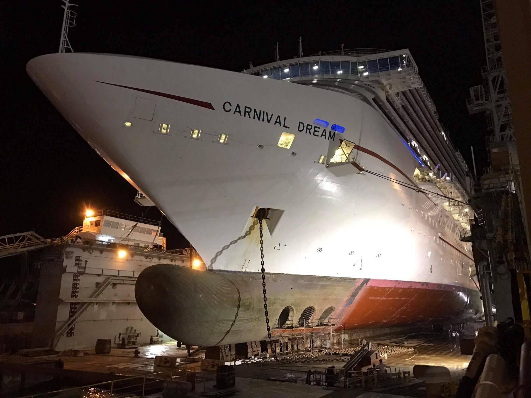 Latest Photos of Carnival Dream During 2 Week Dry Dock