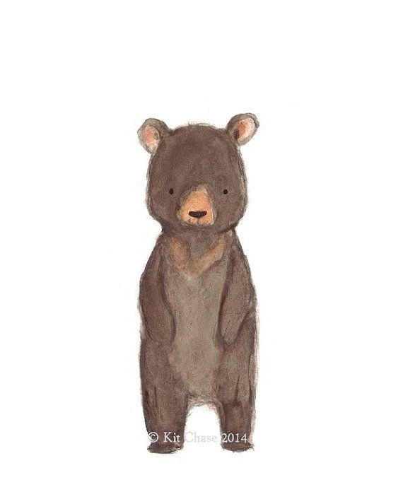 Children S Art Bear Archival Print от Trafalgarssquare