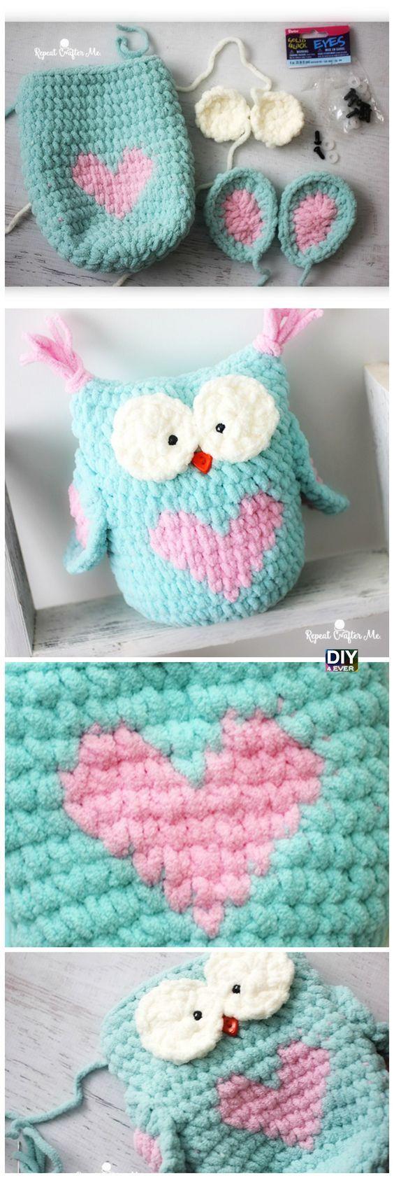 Valentine Heart Crochet Owl - Free Pattern | Pinterest | Häkeln ...