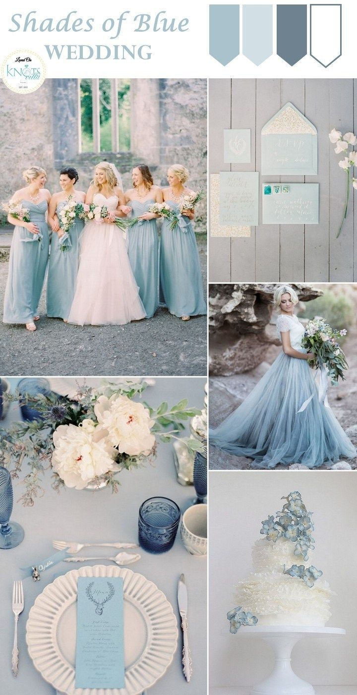 Shades of Blue Wedding Inspiration  KnotsVilla   Wedding Ideas   Canada Wedding Blog is part of Blue wedding inspiration - Blue looking so romantic! Dusty Blue, Powder Blue, Pastel Blue and the likes, we are totally loving these shades of Blue Wedding Inspiration
