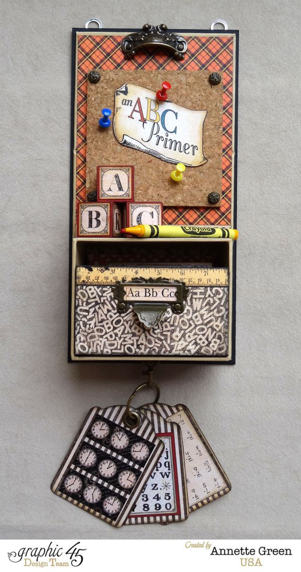 Gorgeous interactive An ABC Primer display by Annette #graphic45