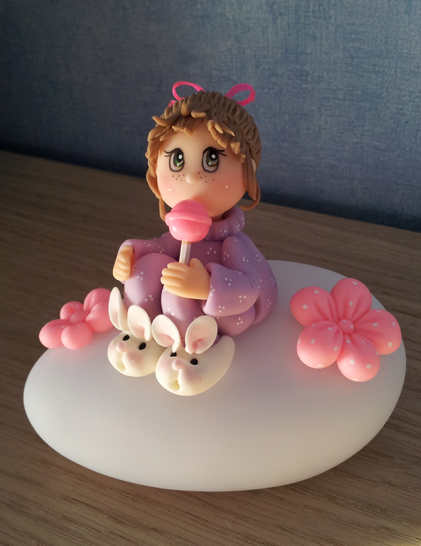 Porcelaine froide faite maison …   Fondant décoration bébé, Porcelaine froide, Tuto fimo