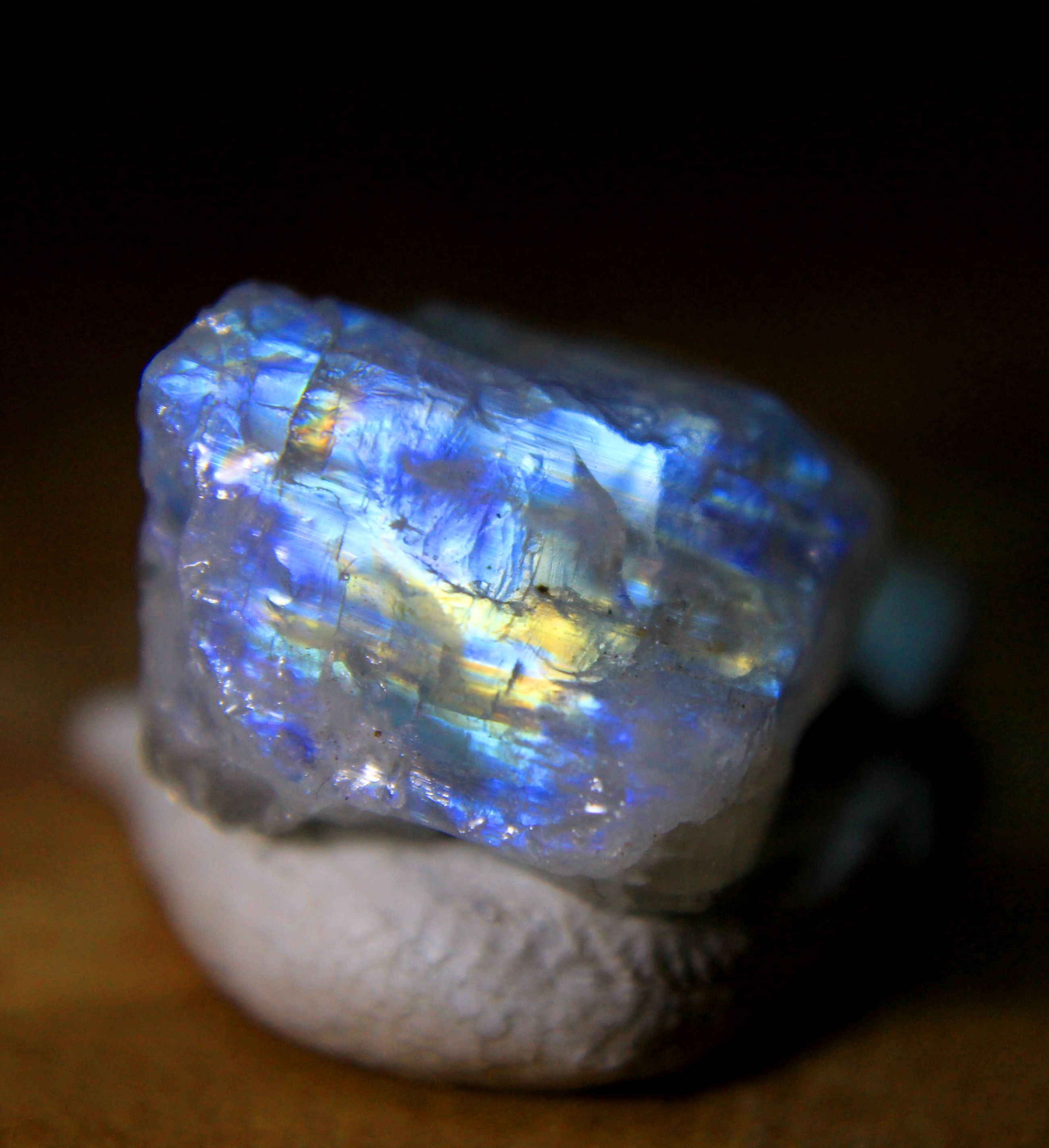 Luna Arcoiris BrutoPieza Piedra Sin En PequeñaTotalmente WHEDYe29I