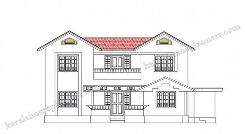 4 Bedroom Stylish Home Design in 1820 Sqft with Free Plan