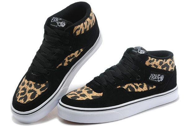 Vans Off the Wall Leopard Print Black