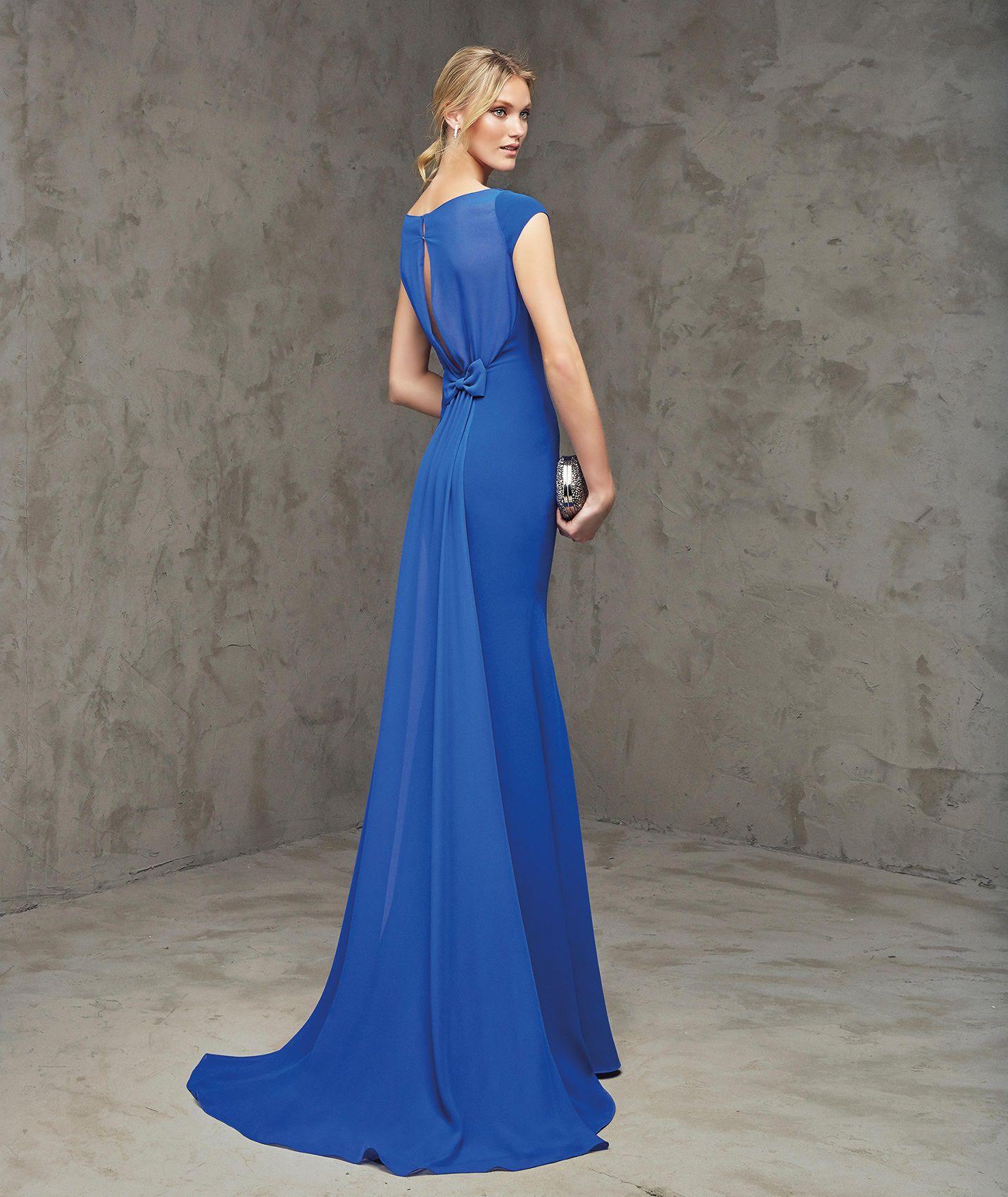 af7a7d4b0 FLEUR - Vestido de fiesta largo azul