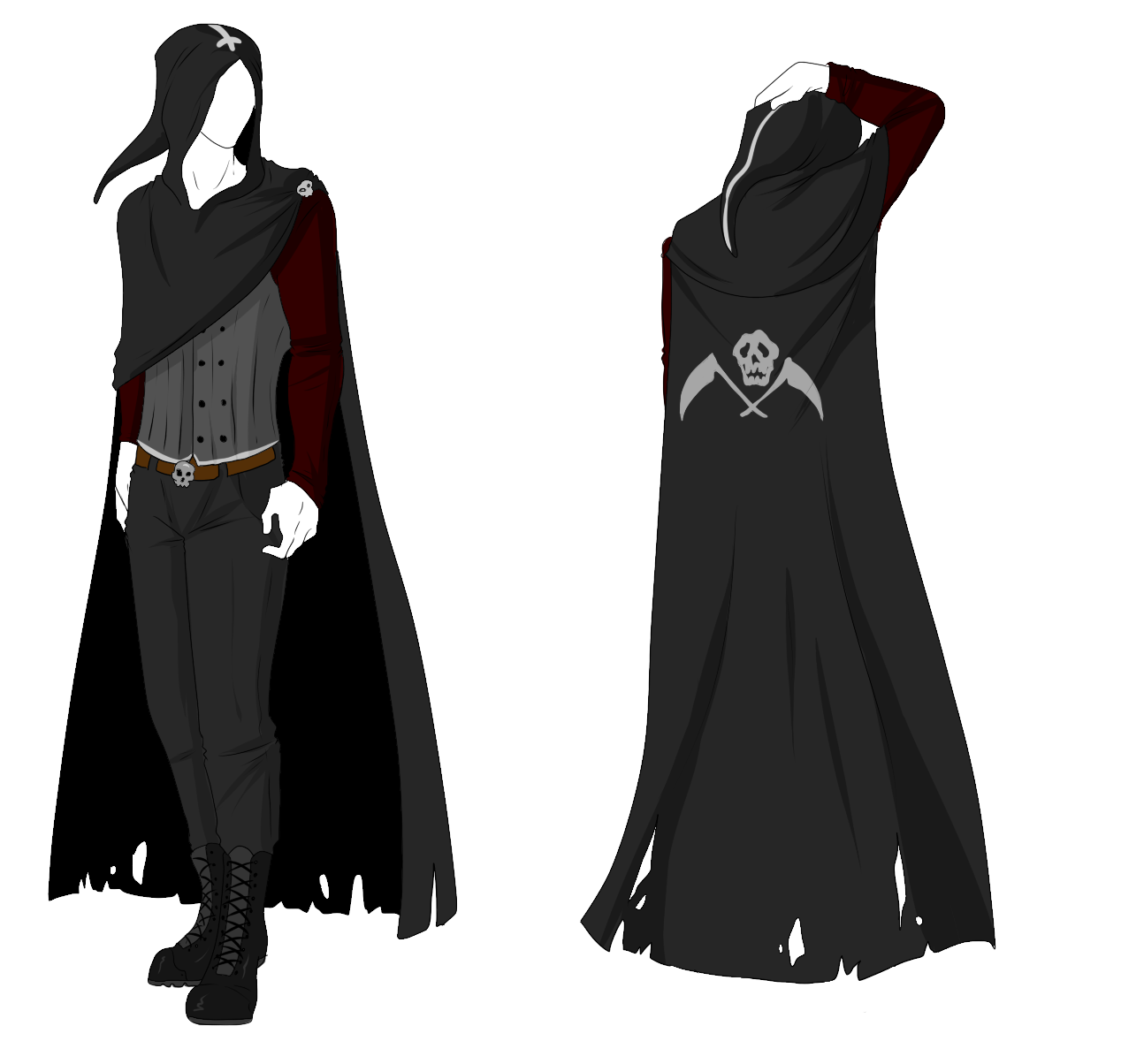 Layered Cape Cloak Situation Clothes Design Fantasy Clothing Character Outfits