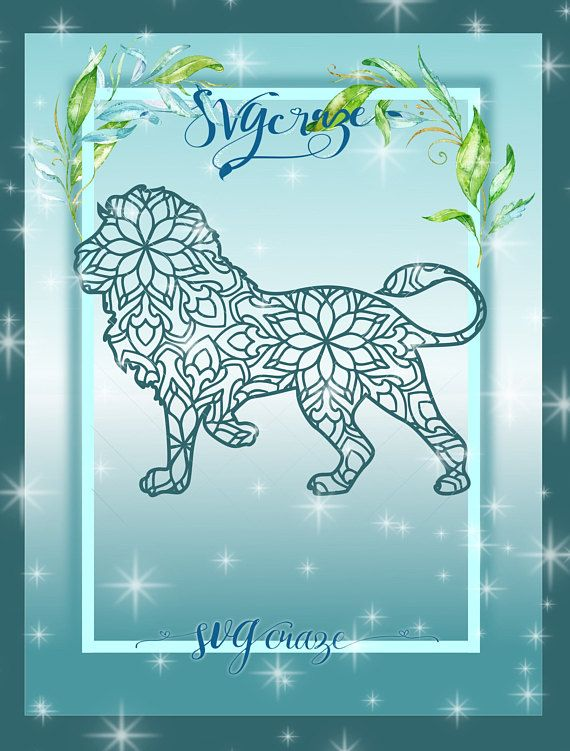 Download Lion Mandala Zentangle SVG Dxf Eps Png PDF files for ...
