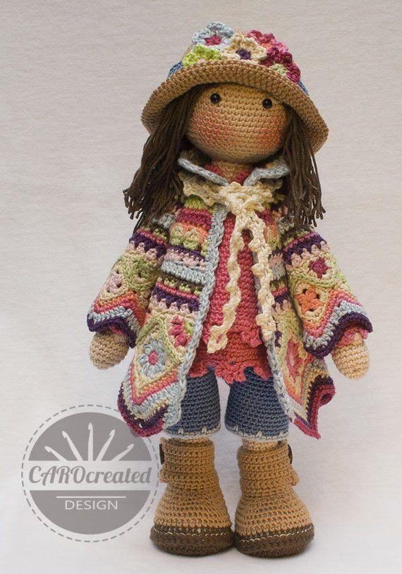 Crochet Pattern for Doll DAWN, pdf (Deutsch, English, Français, Nederlands, Español, Italiano) #instructionstodollpatterns