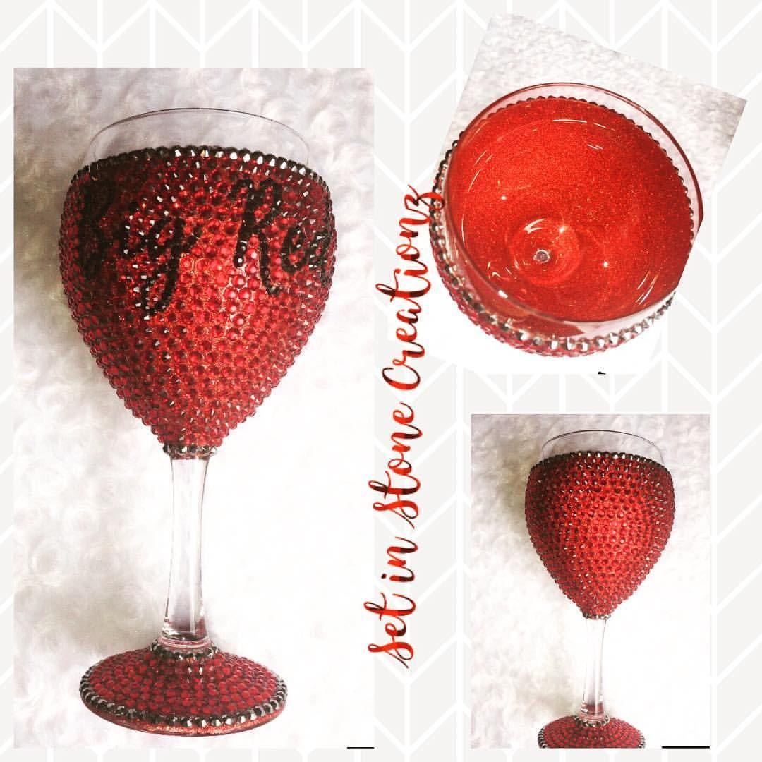 Set In Stone Creationz Setinstonecreationz Instagram Photos And Videos Glitter Wine Glass Glass Glitter Wine