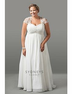wedding dresses plus size empire waist - Pesquisa Google | Wedding ...