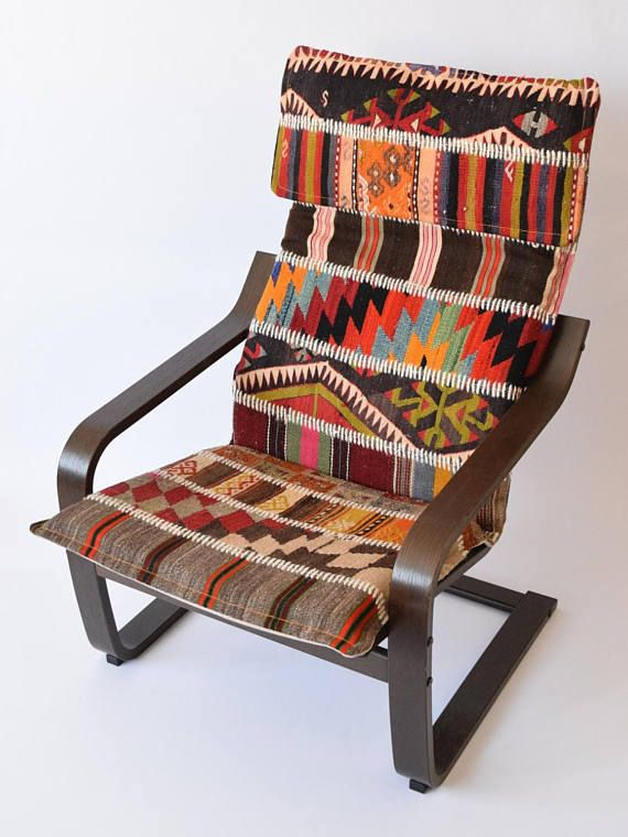 Ikea Poang Patchwork Rug Slipcover 002 in 2020   Diy