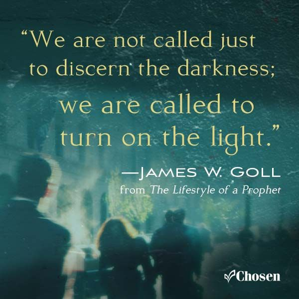 We Are Not Called Just To Discern The Darkness We Are Called To